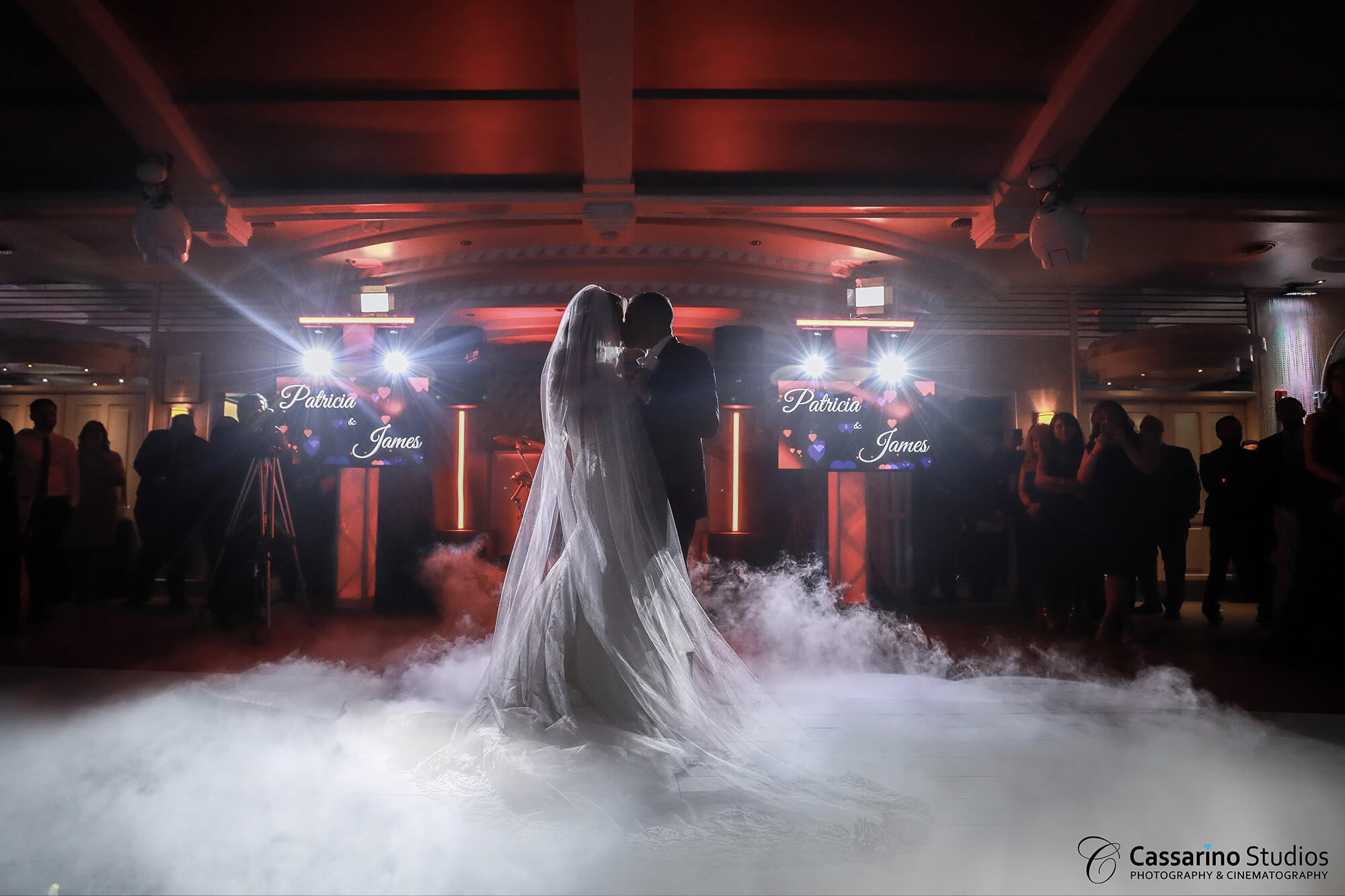 Normandy Ballroom Couple dancing with decorative smoke at their feet
