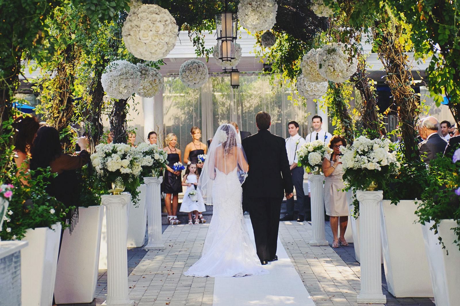 Chateau Briand Garden Wedding Aisle