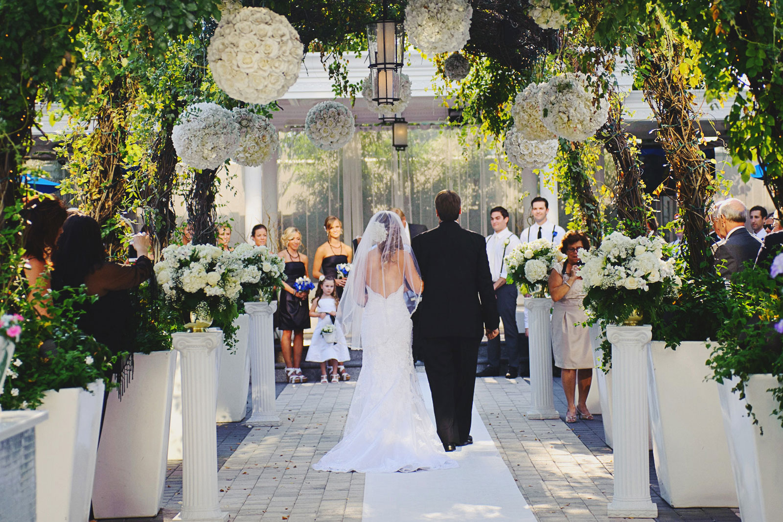 Chateau Briand Garden Wedding Aisle