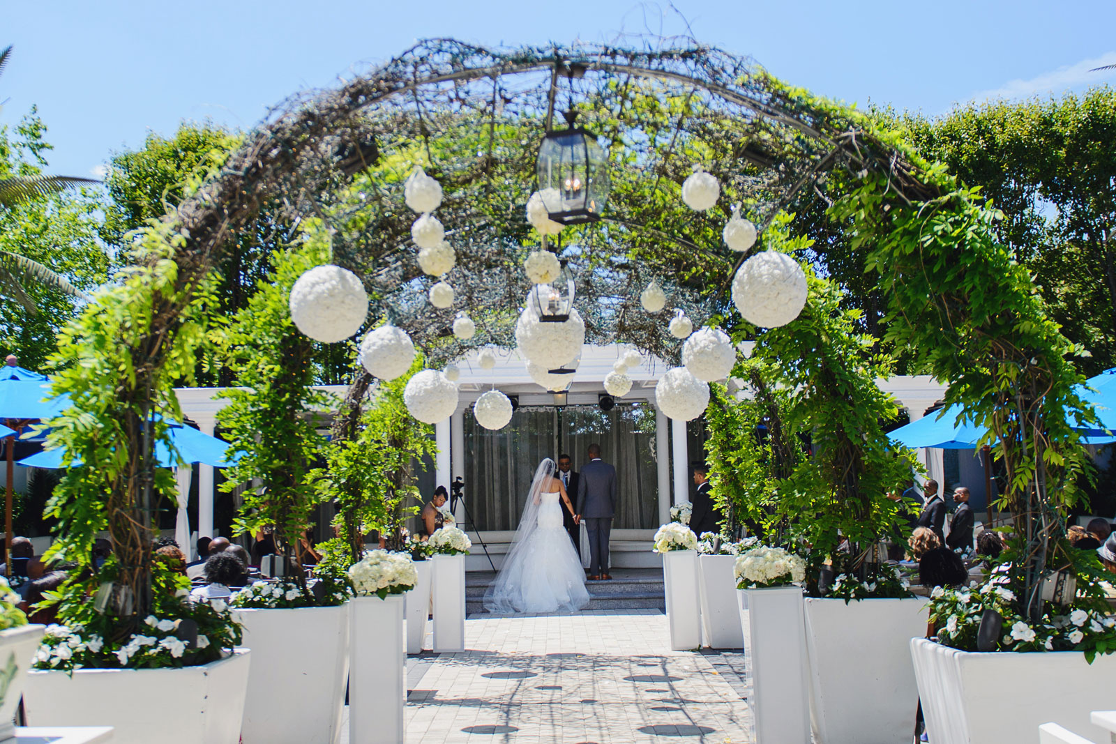 Chateau Briand Caterers Outdoor Oasis Wedding