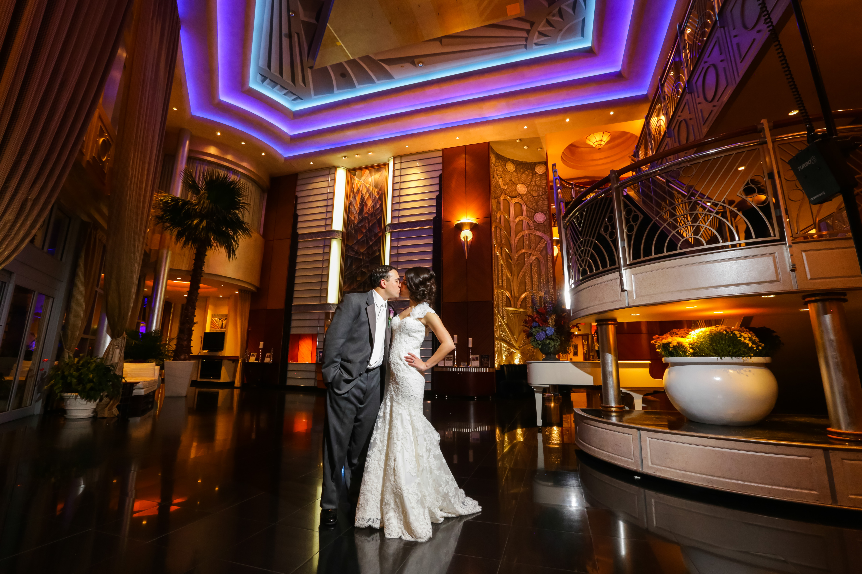 Chateau Briand Wedding Couple Kiss