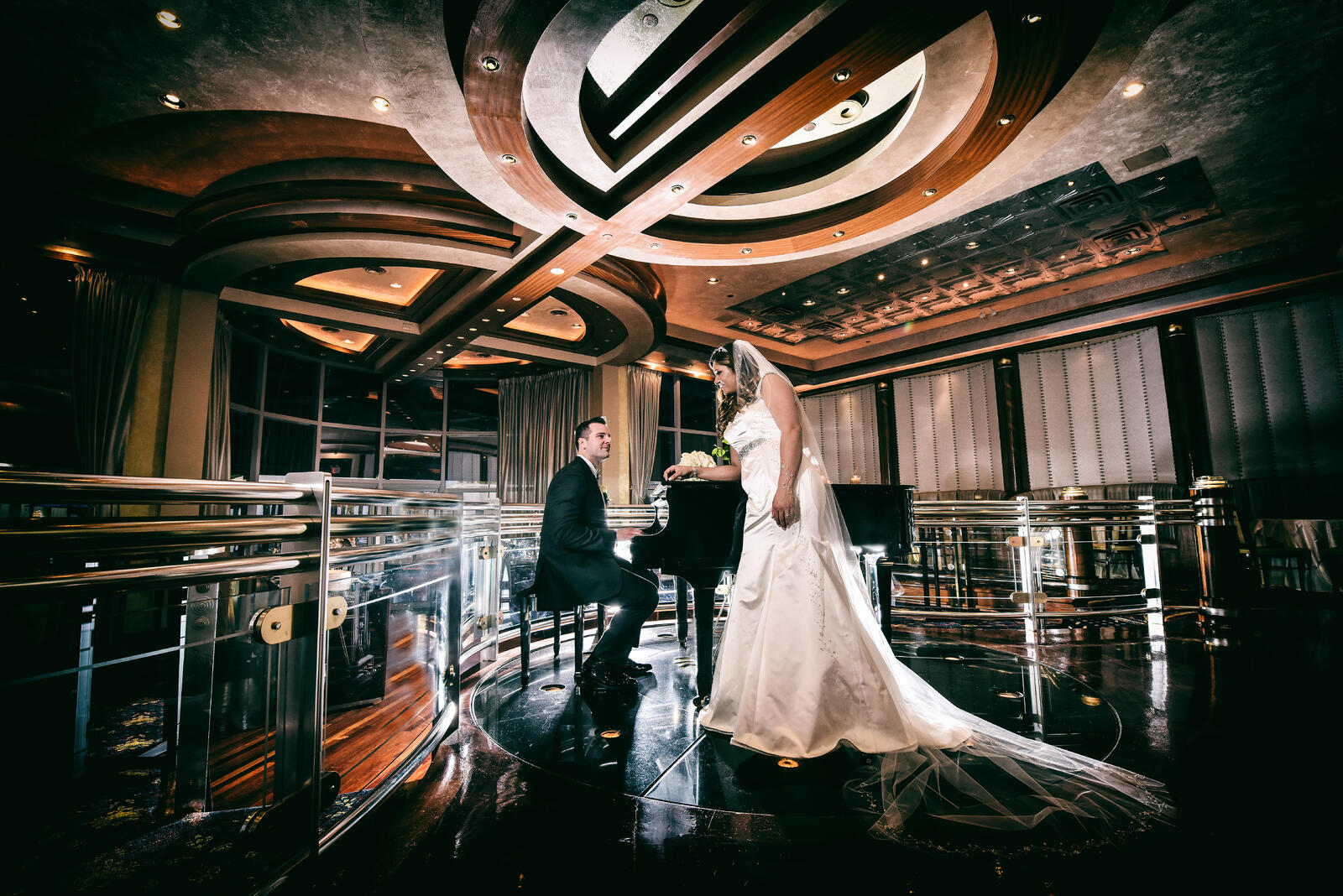 Chateau Briand Piano Wedding Couple